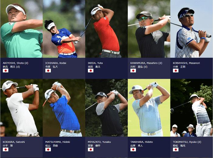全英オープンゴルフ 2018 日本人 出場選手