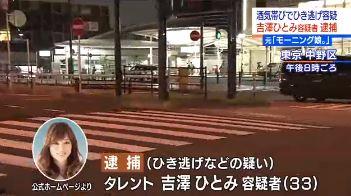 吉澤ひとみ 事故 現場 画像